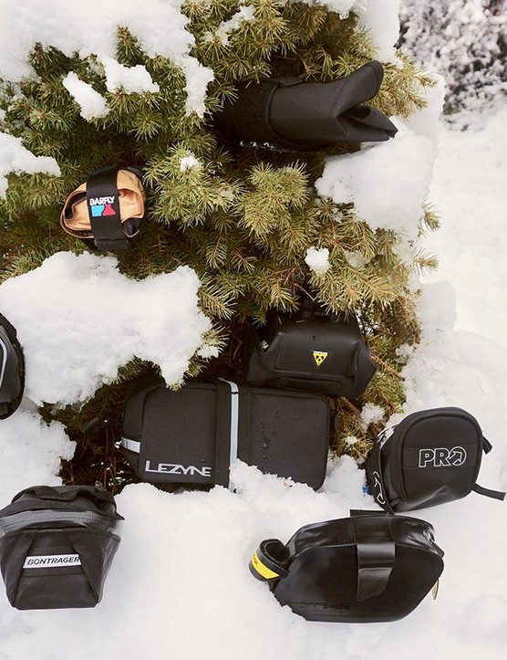 PRO, Bontrager, Topeak, Barfly and Lezyne all make several versions of quality seat bags