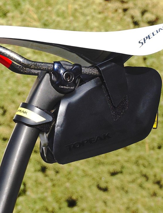 Topeak's Weatherproof Dynawedge is easy to keep clean thanks to its finish