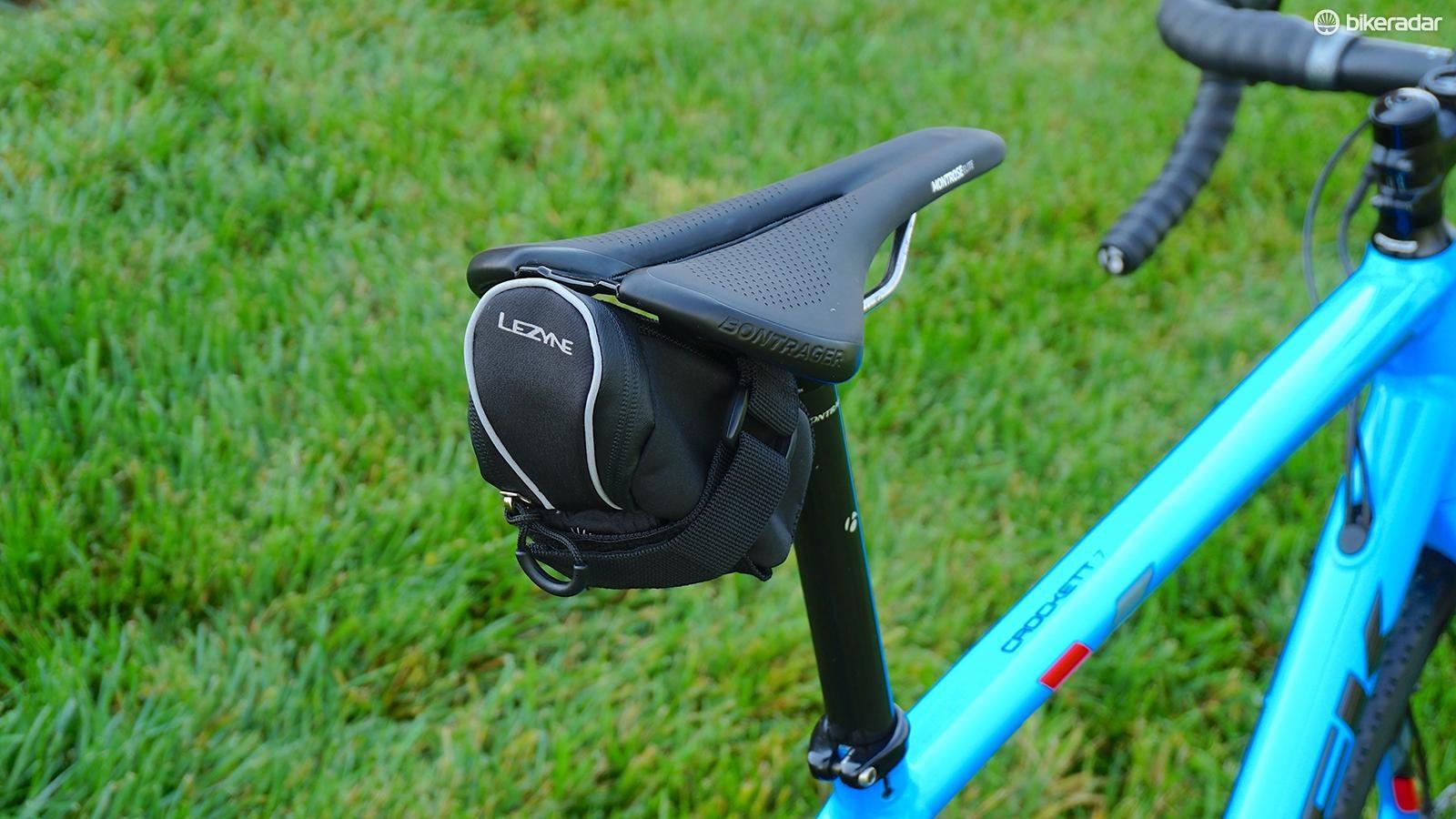 Black Lezyne Micro Caddy-S Road Seat Bag