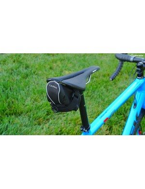Lezyne's Micro Caddy is extremely well made and provides the most reflective piping of the bunch — all without seatpost strap