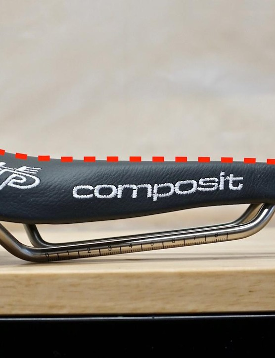 Selle SMP uses this aggressive curvature to build a cradle for sit bones, allowing for aggressive front-end positions
