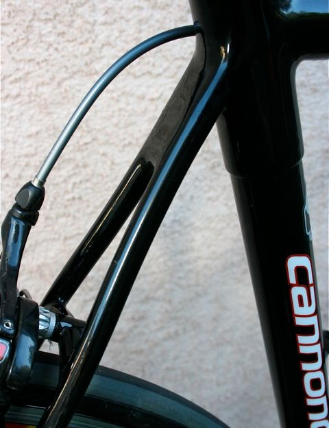 Svelte but stiff rear seatstay wishbone.