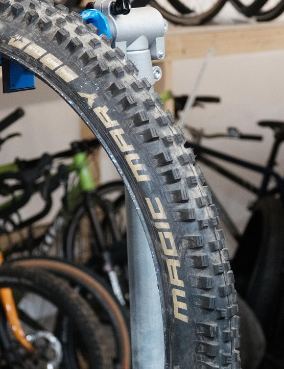 Schwalbe's Magic Mary is one of the most reliably grippy front tyres out there