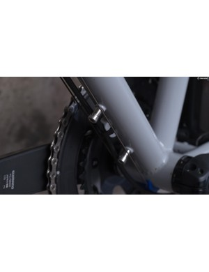 Stand-off spacers ensure that your bottle cage will clear the cable