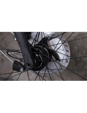 The SON dynamo hub will keep us powered wherever we are