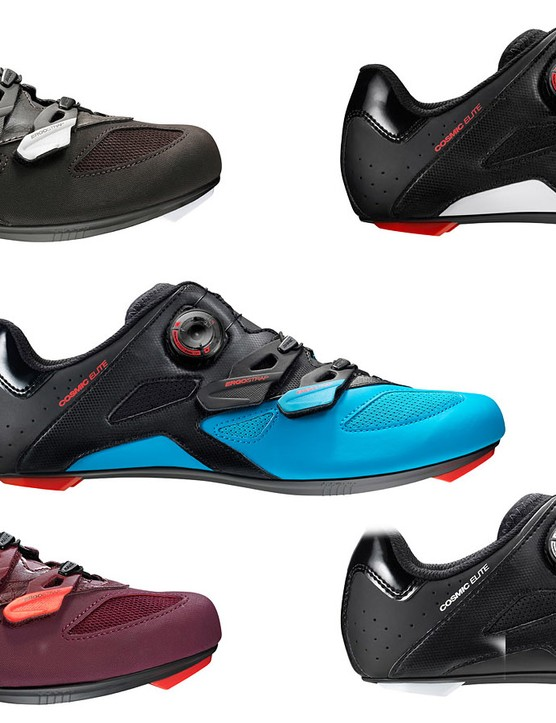 The Cosmic Elite and Sequence Elite shoes are rated 60/100 on Mavic's stiffness scale