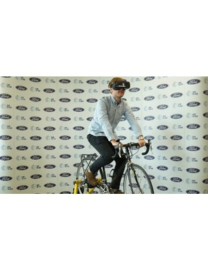 WheelSwap is a virtual reality experience that gives drivers a taste of cycling on the street