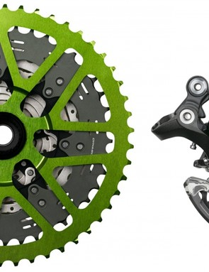 Shimano XT M8000 parts with Shark installed