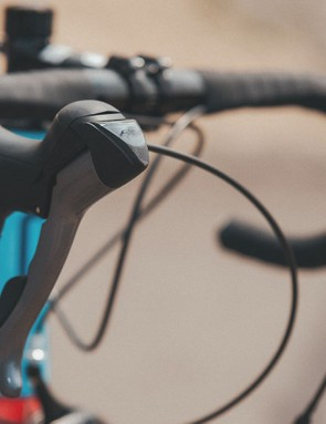 Each bike has STI levers for simple shifting