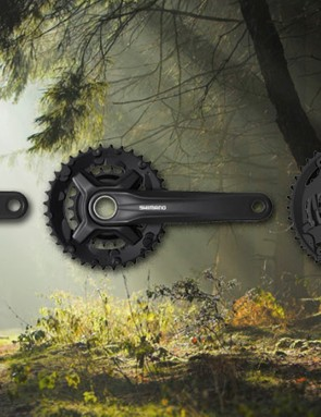 Shimano's updated 9-speed cranksets gain gearing options and replaceable chainrings