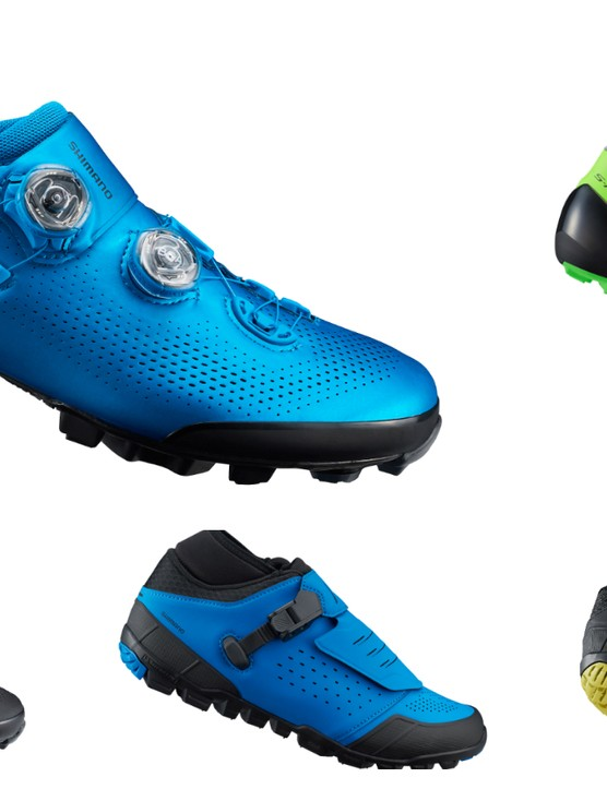 Here are Shimano's latest S-Phyre XC9 XC and CX and ME7 enduro shoes
