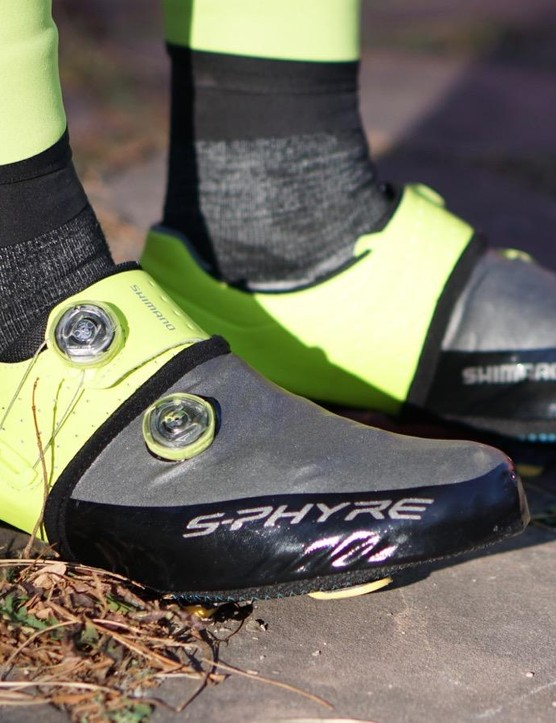 The S-Phyre Toe Covers are designed for Shimano's top-end shoes