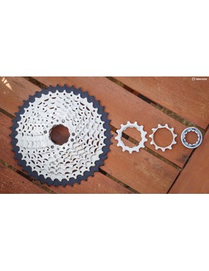 This 10-speed 11-42 cassette is perfect for that 1x conversion you're planning