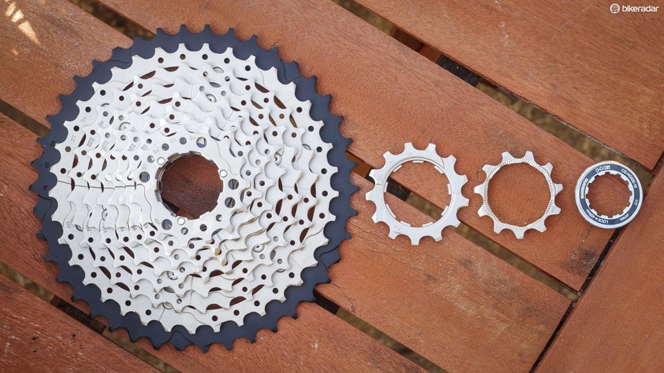 Shimano's 10-speed 11-42 cassette is backwards compatibility