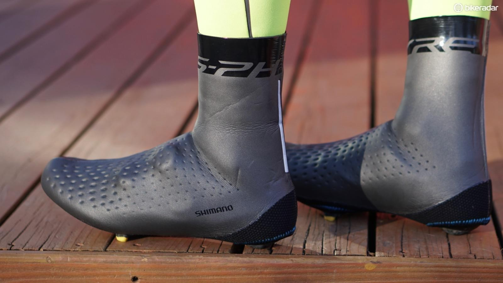 The S-Phyre Shoe Covers are a hyper-flexible neoprene with no zippers or Velcro openings