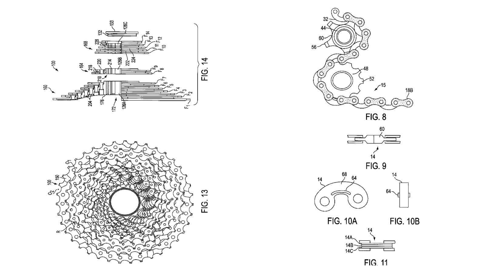 Shimano filed a patent for a 14 speed drivetrain way back in 1999 and it makes for some fascinating reading