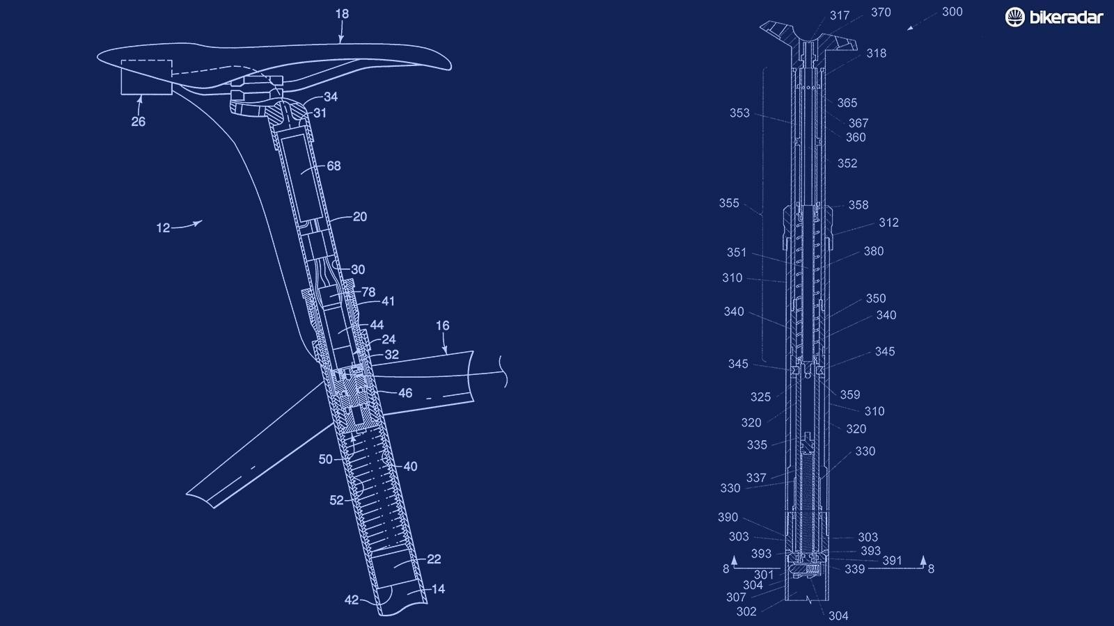 Both Shimano and Trek have patents on auto-dropping seatposts