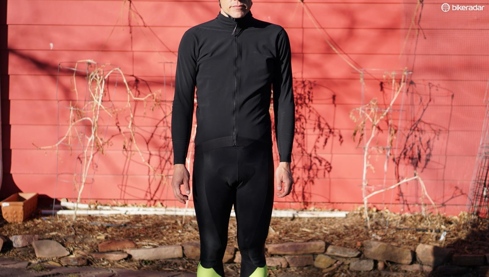 The Windresistant Jersey functions similarly to a stretchy GoreTex piece