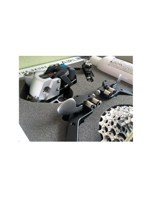 The shifters are operated in a similar fashion to SRAM eTap