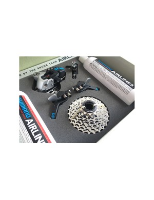 This new old stock groupset is available for sale or swap on PinkBike