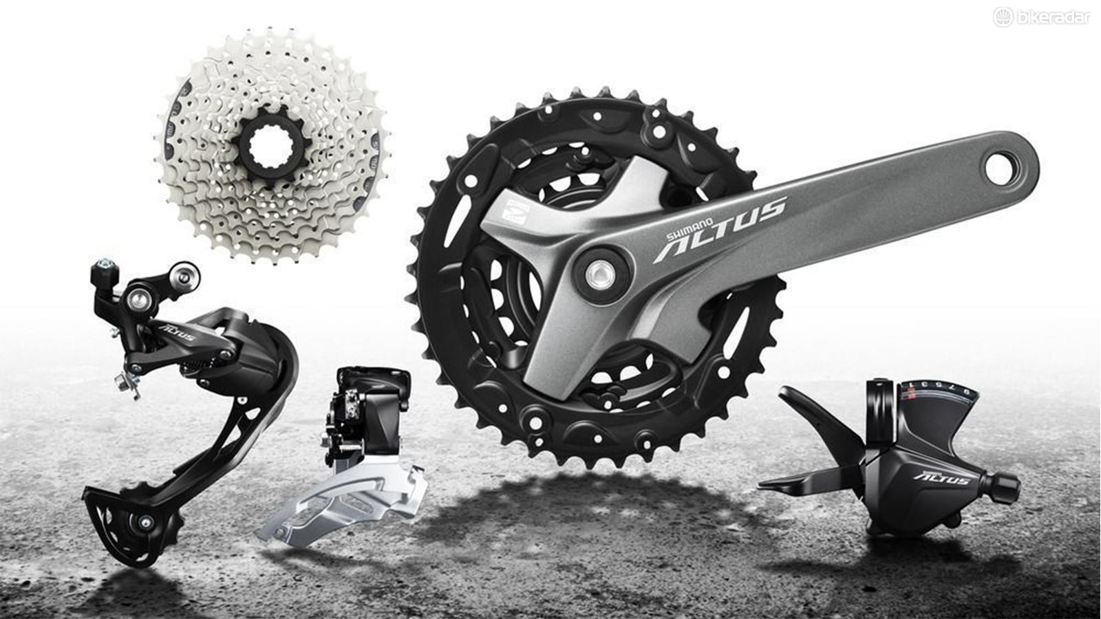 Altus is the group you're likely to find on entry-level mountain bikes