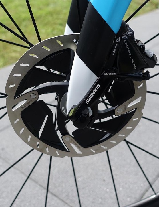 Shimano reps will tell you how the Dura-Ace rotors are 16% less this or 42% more that, but we just like look of the things