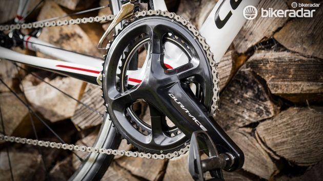 Shimano's Dura-Ace R9100 crankset is all black