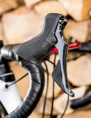 The brake levers are curvier than before