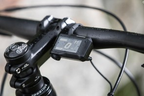 The display unit is borrowed from Shimano's Di2 parts bin