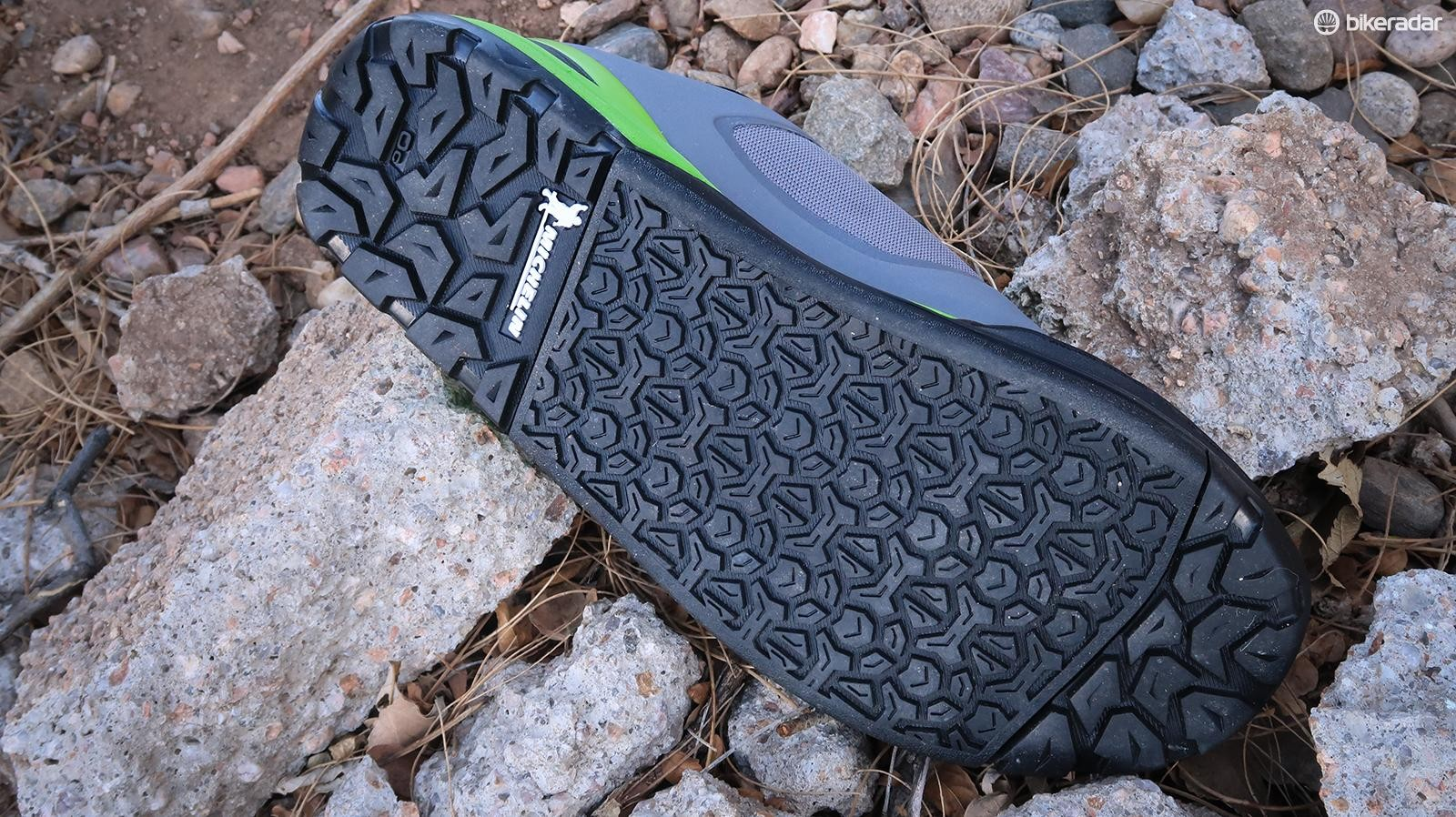 Michelin rubber keep the GR7 stuck to the pedal