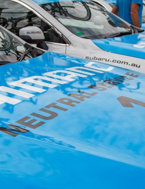 Subaru sponsors the Santos Tour Down Under, and so all convoy vehicles are from the Japanese company