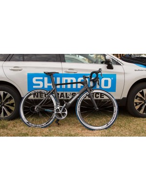 Shimano Australia sources the bikes for TDU Neutral Service, these are Avanti Corsas with 11-speed Dura-Ace