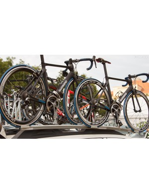A look at some of the Neutral Service rides (the Ridley is just being transported to the race start)