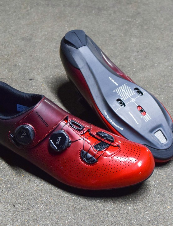They might look like disco slippers, but Shimano is confident they'll help you to ride faster