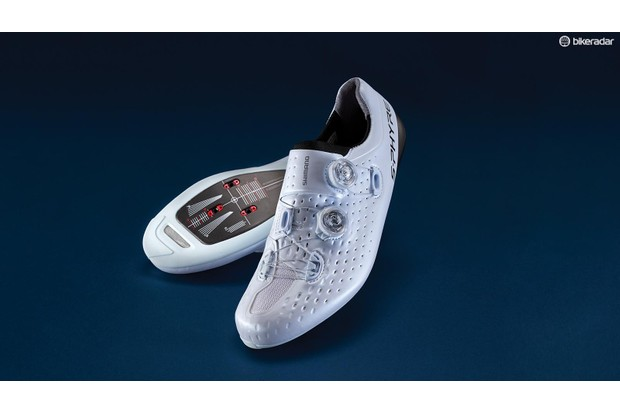 The Shimano S-Phyre RC9 shoes are extremely stiff and super-lightweight