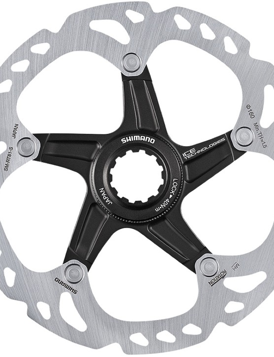 You've got the option of steel disc rotors…