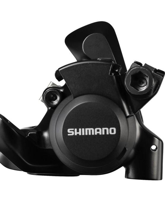 Shimano's new Sora mechanical disc brake caliper