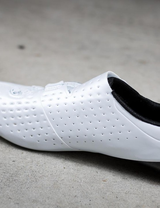 Lots of perforations should make for a breathable shoe