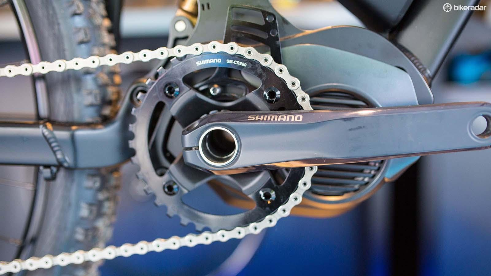 Shimano is among the brands getting on the e-MTB gravy train