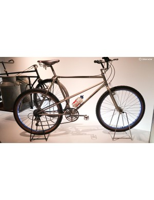 Not all the bikes in this museum look so primitive. This Breezer, one of the world's first mountain bikes, looks surprisingly modern, with its long top tube and relaxed head tube angle