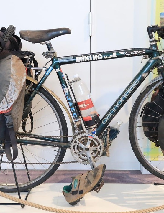Starting in 1995, Tatsu Sakimoto road this Cannondale on an epic four-year, 55,000km journey around the globe