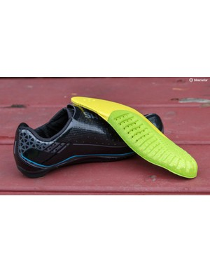 The innersoles are comfortable, but quite basic compared to what Shimano's top-tier (more expensive) unisex shoe is supplied with