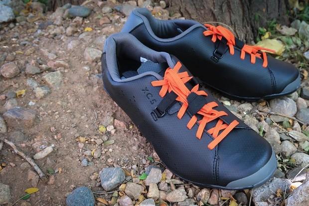 Shimano's XC5 lace-up mountain bike shoes