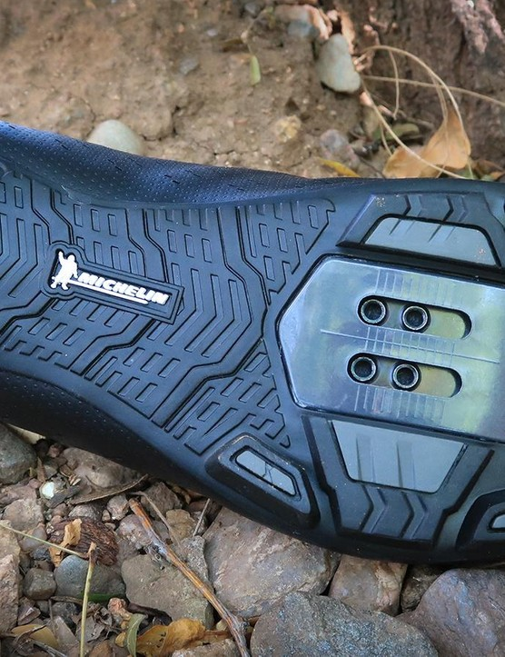 The XC5 shoes use a grippy Michelin rubber soles