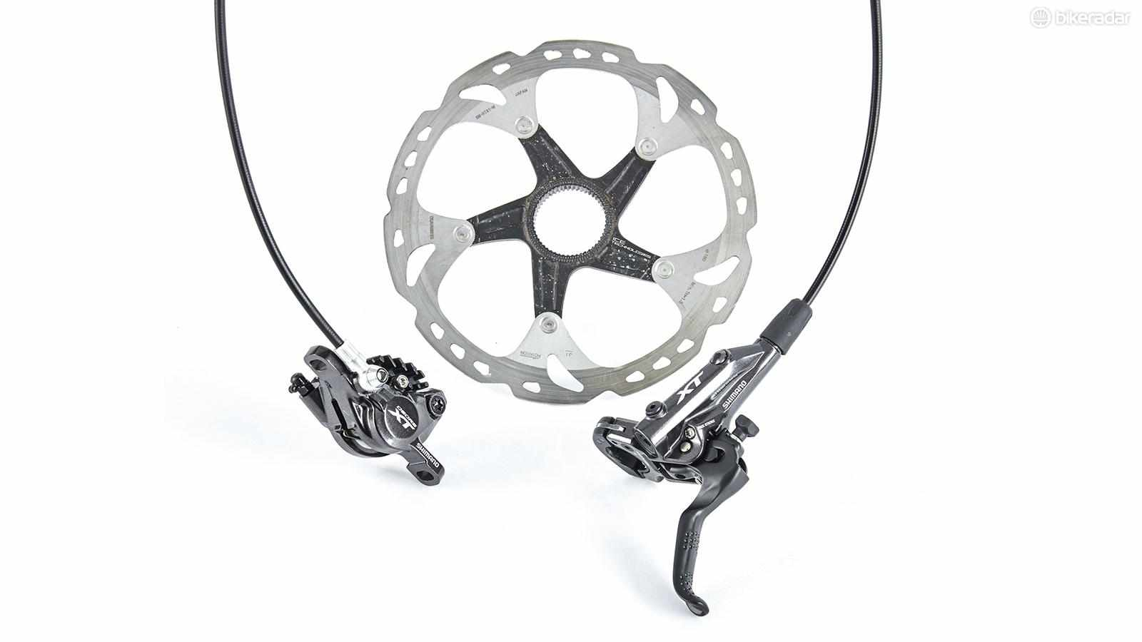 Shimano's XT 8000 MTB brakes are marred by bite-point inconsistencies