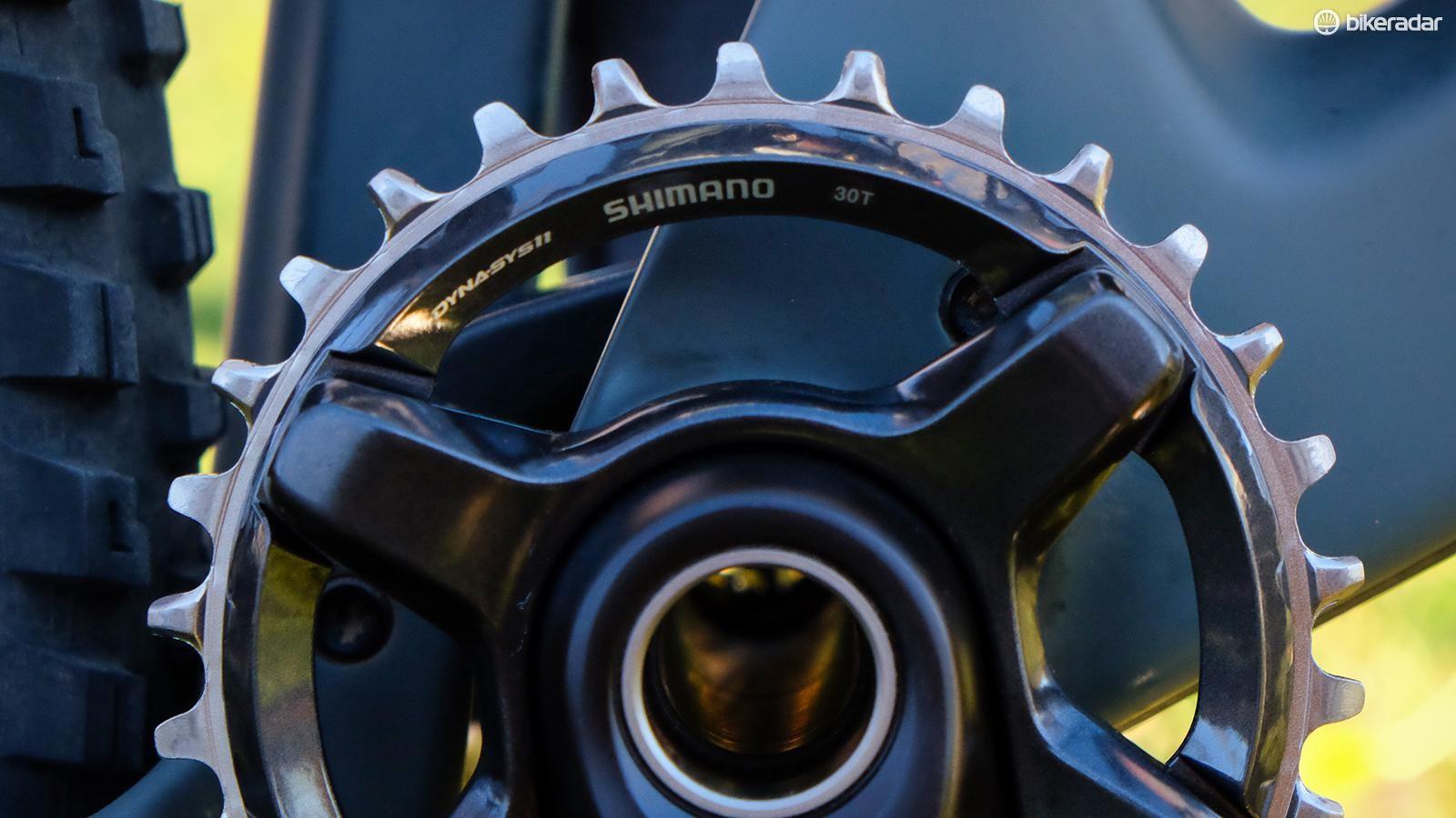 Shimano's narrow-wide XT chainring