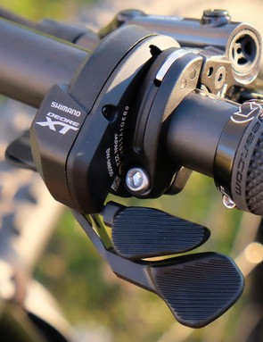 Shift paddle operation can be adjusted via Shimano's wireless app, but the paddle reach adjust is still a hands-on affair