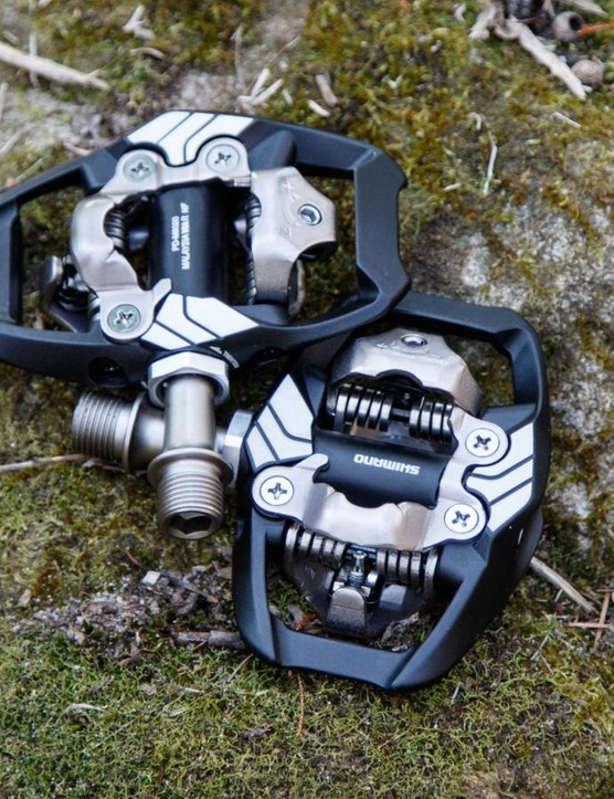 The new Shimano XT M8020 Trail SPD pedals were released with Shimano's XT 11-speed groupset