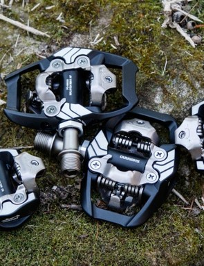 In this BikeRadar Battle, we pitch the Shimano M8000 XT Race pedals against their sibling M8020 XT Trail pedals