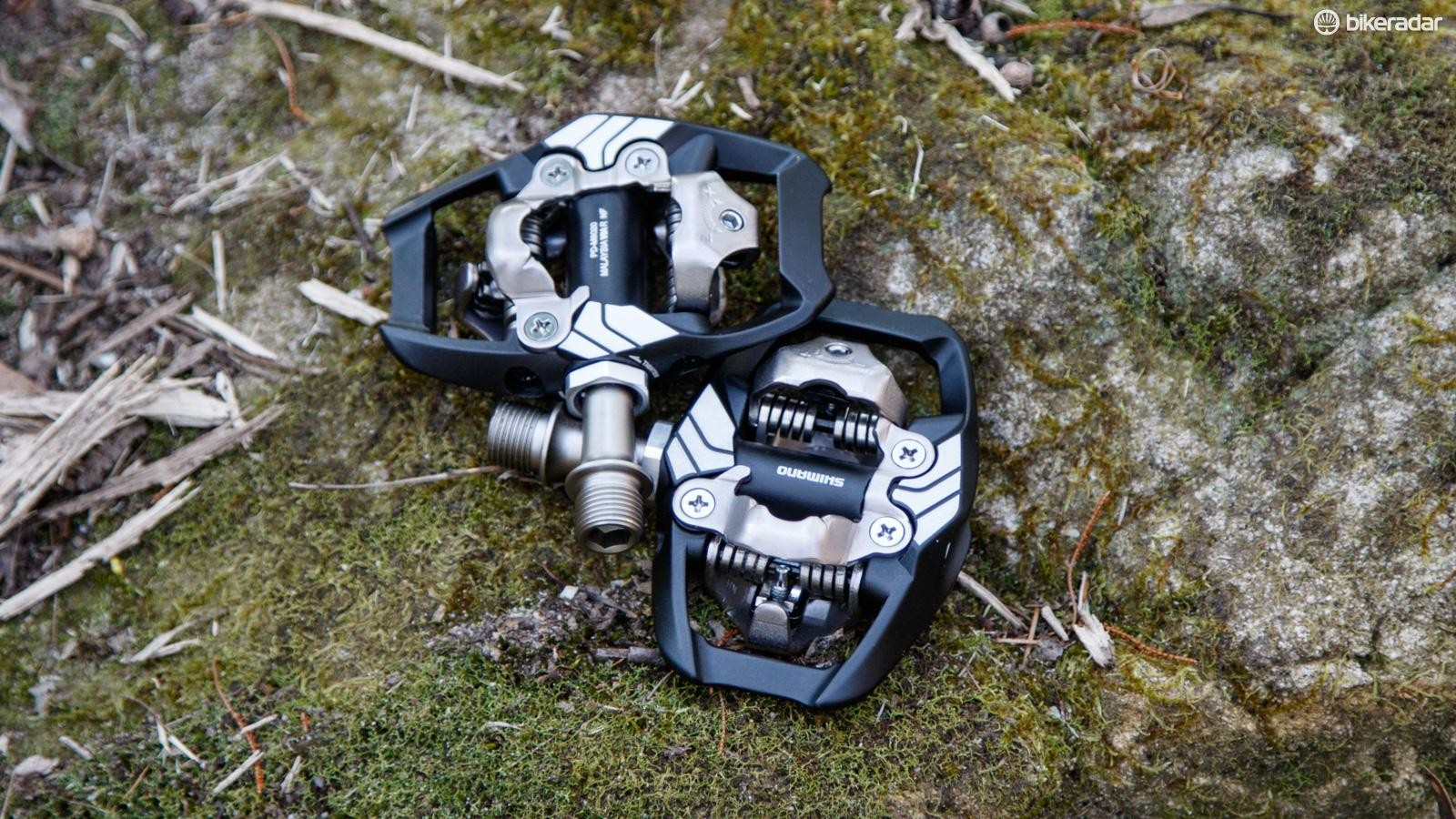 Mountain bike cleat systems like Shimano's XT pedals require two-bolt SPD cleats